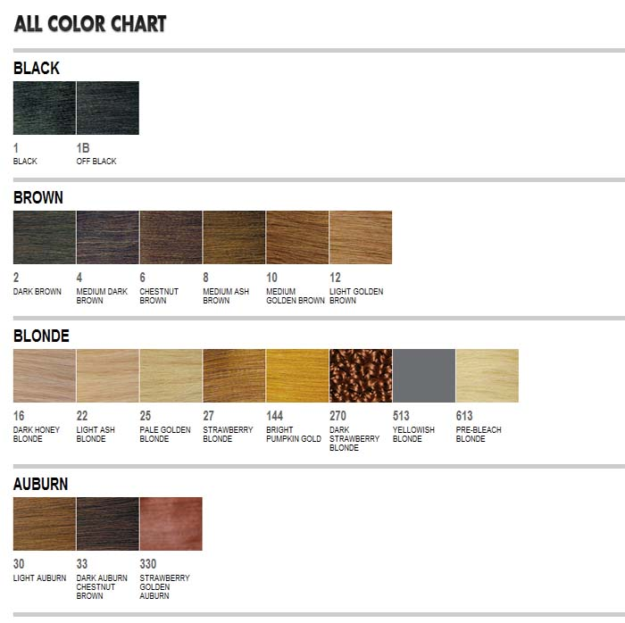 Abradel Sensationnel Color Chart