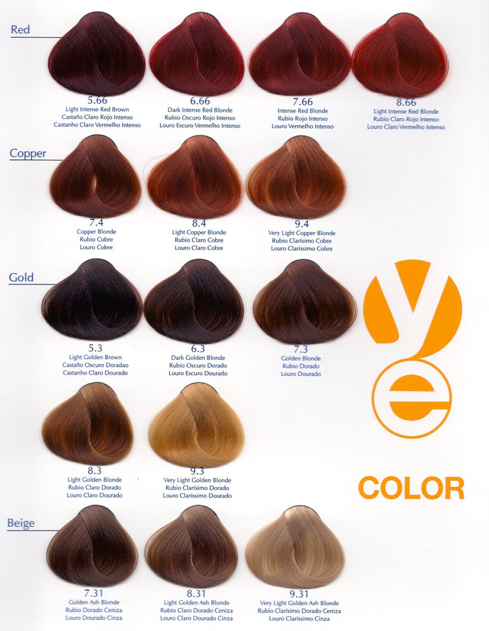 Yellow Color Chart